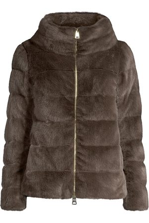 HERNO Faux-Fur Teddy Down Jacket