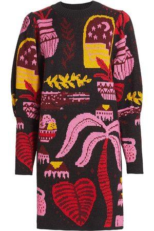 Farm Rio Tropical Magic Mini Sweaterdress