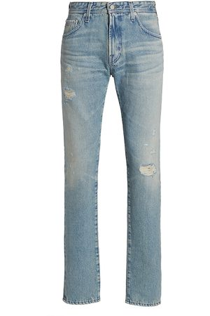 AG Jeans Dylan Distressed Straight-Leg Jeans