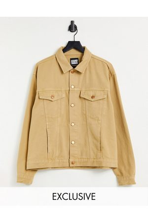 Reclaimed Inspired unisex denim jacket in -Neutral