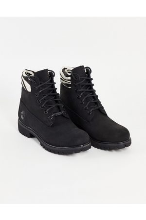 Timberland 6 inch premium lace up boots in zebra