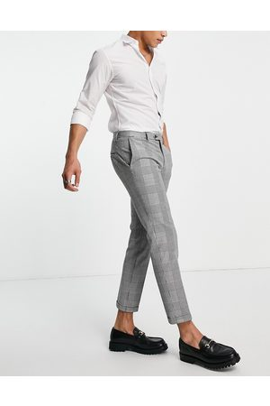 JACK & JONES Premium relaxed fit suit pants in heritage check