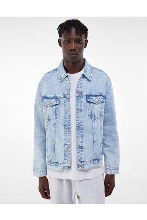 Bershka Denim jacket in light blue-Blues