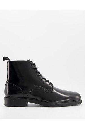 Calvin Klein Forden lace up boots in leather