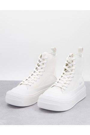 ASOS DESIGN Sneakers in with chunky sole
