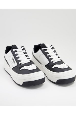 ASOS DESIGN Sneakers in and white with chunky sole