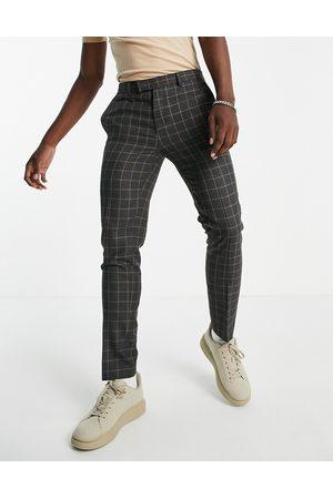 River Island Skinny check pants in -Grey