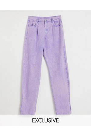 Reclaimed Vintage Inspired '83 unisex relaxed fit jean in lilac