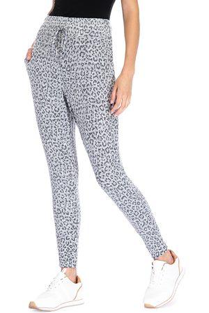 Bobeau Brushed Cheetah Print Jogger Pants
