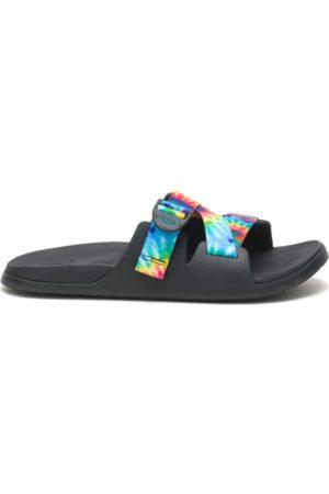 Chaco Men Sandals - Men's Chillos Slide Dark Tie Dye, Size 7 Medium Width