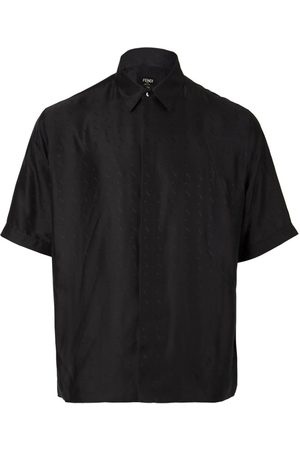 Fendi Oversized Silk Short-Sleeve Shirt