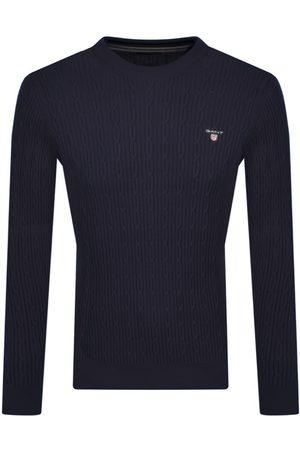 Gant Half Zip Knit Jumper Navy