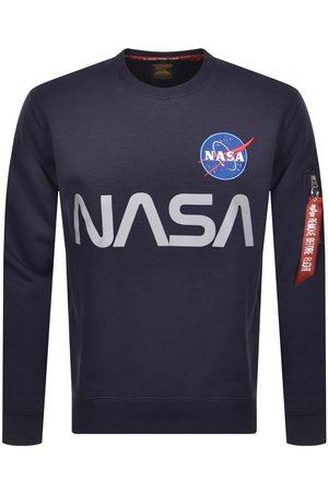 Alpha Industries Nasa Reflective Sweatshirt Navy