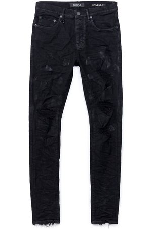 Purple Brand Distressed Oil Spill Jeans