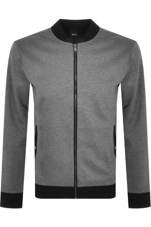 HUGO BOSS Men Sweatshirts - BOSS Skiles 40 Full Zip Sweatshirt Grey