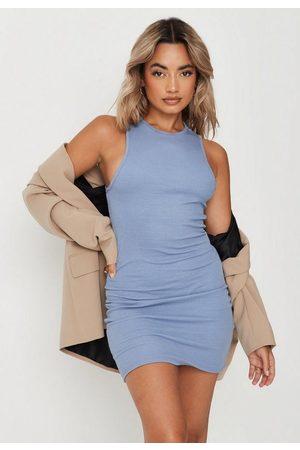 Missguided Women Party Dresses - Petite Rib Racer Neck Mini Dress