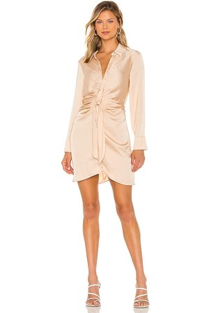 Steve Madden Women Party Dresses - Tie Curious Dress in Nude.