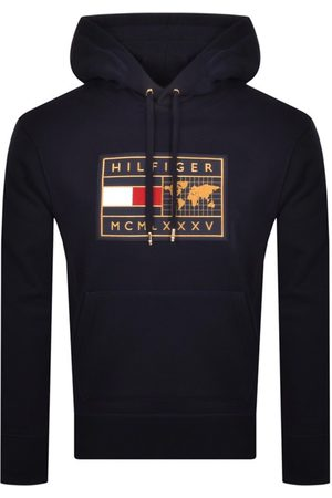 Tommy Hilfiger Icon Earth Logo Hoodie Navy