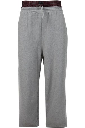 Balenciaga Trompe-L'oeil Double Waistband Sweatpants Red And Grey