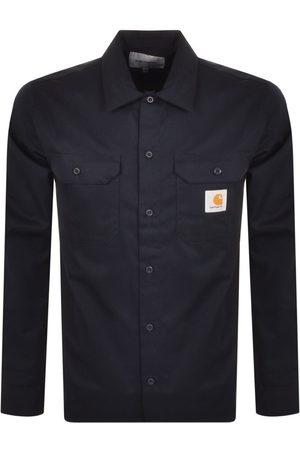 Carhartt Men Long sleeves - Master Long Sleeve Shirt Navy