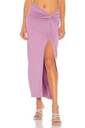 RONNY KOBO Women Maxi Skirts - Desdemonia Knit Skirt in Lavender.