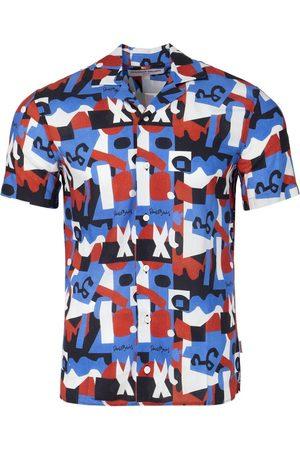 Orlebar Brown X Stuart Davis Travis Short-Sleeve Shirt Blue