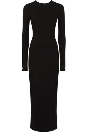 Dolce & Gabbana Fitted Logo-Cuff Dress