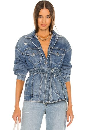 Citizens of Humanity Dolly Belted Jacket in Blue.