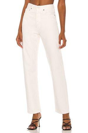 AGOLDE 90s Pinch Waist Jean in White.