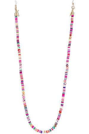 Lele Sadoughi Bead And Disc Eyeglass Chain in Pink.