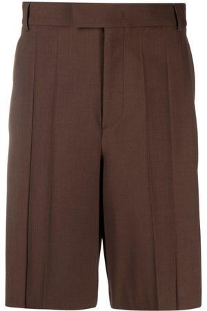 VALENTINO Dark Pleat-Detail Shorts