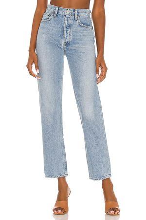AGOLDE 90s Pinch Waist Jean in Blue.