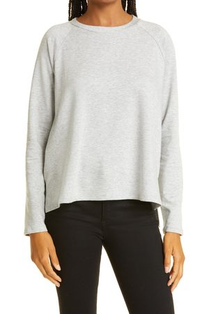 Eileen Fisher Women's Raglan Crewneck Fleece Sweater