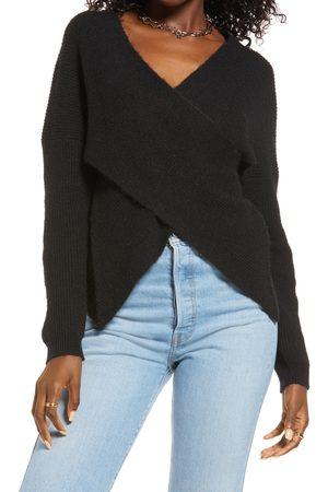 Open Edit Women's Wrap Sweater