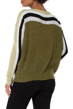 Liverpool Los Angeles Women's Stripe Dolman Sweater