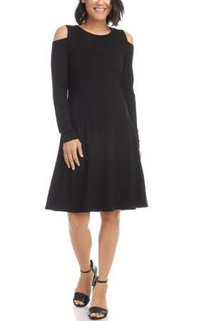 Karen Kane Women's Cold Shoulder Long Sleeve A-Line Dress
