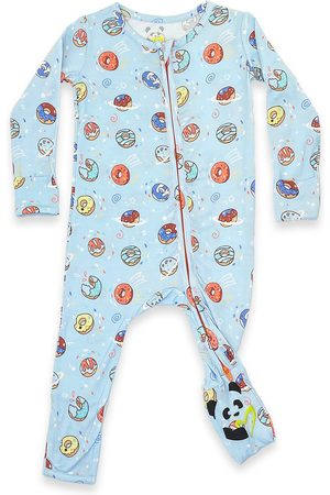 Bellabu Bear Infant Boy's Kids' Donut Convertible Fitted Footie Pajamas