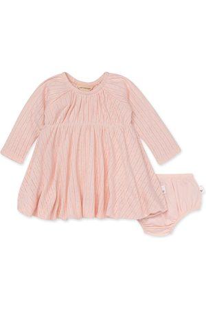 Burt's Bees Infant Girl's Pointelle Organic Cotton Long Sleeve Dress