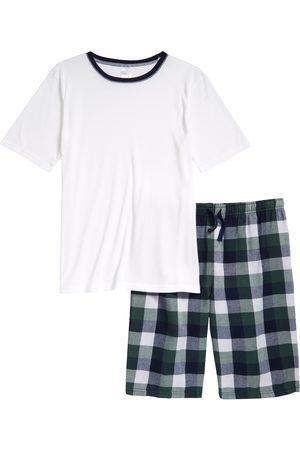 Treasure & Bond Boy's Kids' Solid & Plaid Short Two-Piece Pajamas