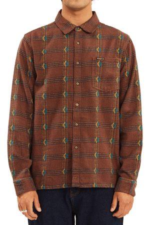Billabong Men's X Wrangler Knox Jacquard Cotton Flannel Button-Up Shirt