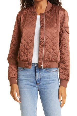 CAMI Women's The Dierdre Quilted Silk Bomber Jacket