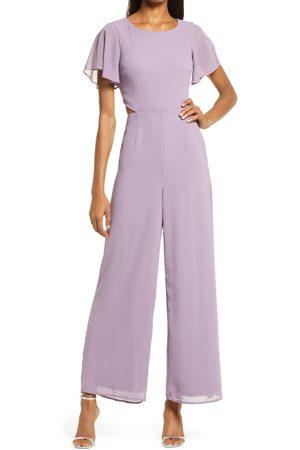 Lulus Women's Toast To You Flutter Sleeve Jumpsuit