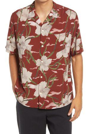 AllSaints Men's Climber Floral Short Sleeve Button-Up Camp Shirt