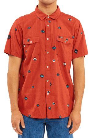 Billabong Men's X Wrangler Distant Land Short Sleeve Button-Up Shirt