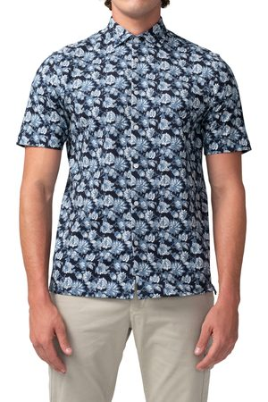 Good Man Brand Men's On-Point Floral Short Sleeve Stretch Button-Up Shirt