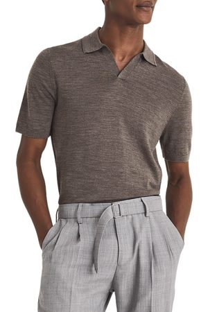 Reiss Men's Duchie Solid Wool Polo Shirt