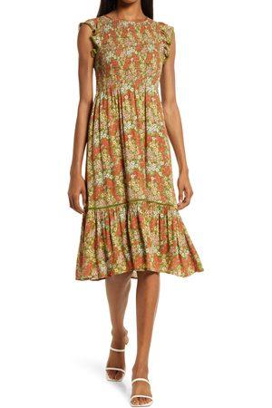 Lost + Wander Women's Blossom & Bloom Floral Midi Dress