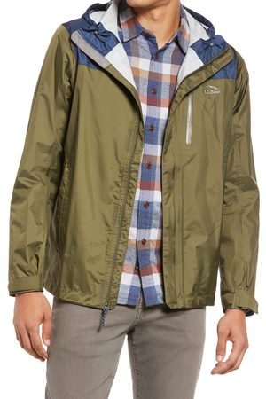 L.L.BEAN Men's Men's Trail Model Water Repellent Rain Jacket