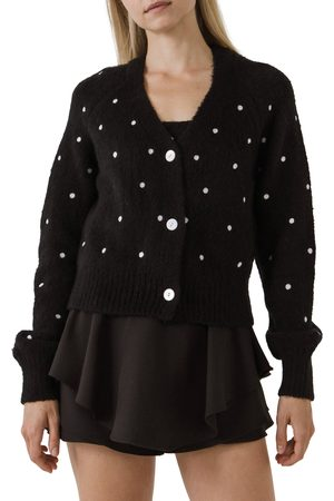 ENGLISH FACTORY Women's Dot Embroidered Cardigan