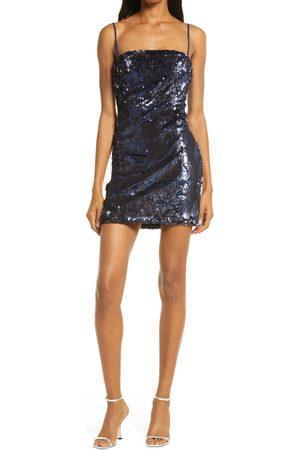 Lulus Keyla Velvet Sequin Minidress